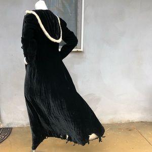 VTG 30s Opera Edwardian Cape Coat Velvet Hood